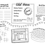 Download Kids Menu / Activity Page